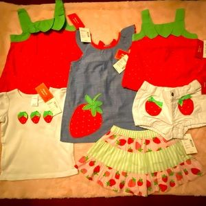 Baby girls 👧 Gymboree 6 piece collection 🍓